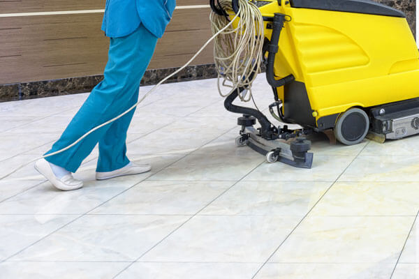 Commercial Floor Scrubbing