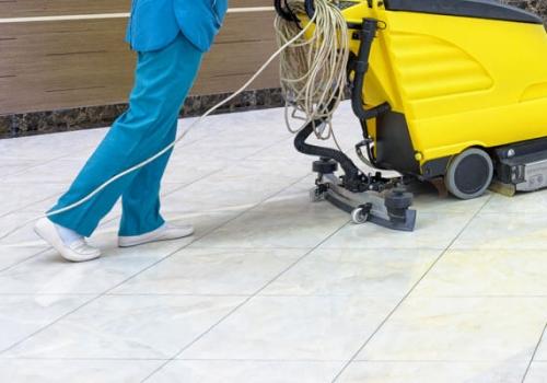 Commercial Floor Scrubbing